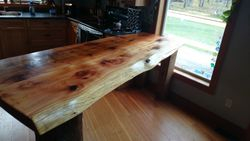 "cedar counter top kitchen table 96"" by 36"""