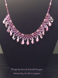 Pink Netted Petals (Item #1237) $30.00