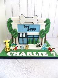 Pet Shop Birthday Cake