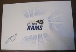SAM BRADFORD Signed ST. LOUIS RAMS Poster 2010 Training Camp