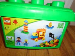 LEGO DUPLO #5352 Complete with 130 Pieces with Container - $30