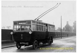 Wolverhampton Trolly Bus. c 1928.