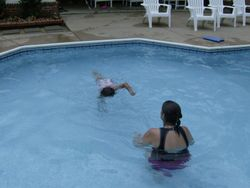 Naomi took swimming lessons with Mrs. Holmquist