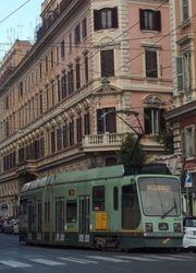 Socimi #9010 leaving  Piazza del Risorgimento
