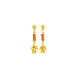 Aretes de colgar Tunjo - Precolumbian Tunjo piece dangling earrings
