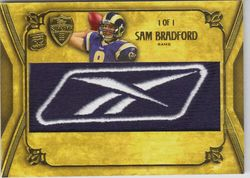 2010 Supreme SAM BRADFORD Rookie Reebok LOGO Patch #1/1