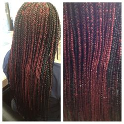 Long Solange & Beyonce  Box Braids done At The Braiding Depot