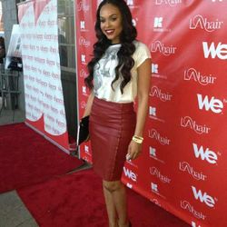 Demetria McKinney attend 'LA Hair' Viewing Party