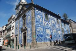 Church with painted tiles