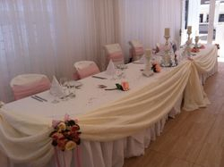 Rich Ivory head table swag