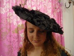 Vintage Victorian Style Black Petals