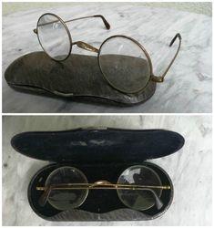 Antikvariniai akiniai su originaliu deklu. Kaina 52