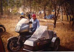1986 Alpine Rally @ Perkins Flat -  Ross 'Rossco' Lawson, now from Qld, was from Orange