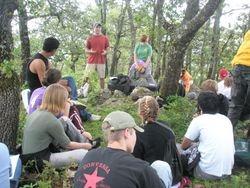 Jason teaching on top of the mountain