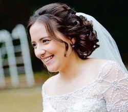 Bridal Updo soft curls