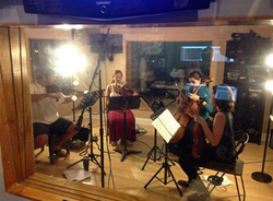 Henry Mancini Institute String Quartet Recording Session