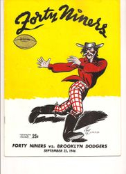 1946 San Francisco 49ers vs. Brooklyn Dodgers