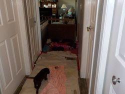 Hallway blanket rearrangement