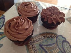 Chocolate Cupcakes with Chocolate Butter Cream Frosting