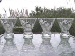 Flower Wineglasses