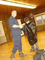 demonstrate trash bag