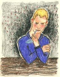Bristling and Defended, Oil Pastel, 11x14, Original Sold