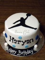 Jordan Jump Logo Cake (B133)