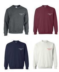 Sweatshirts, Crewneck. 50/50 Heavy Blend - Dark Heather, Maroon, Navy Blue and White.