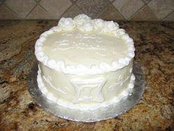 Ivory Monogram Cake