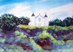 San Ramone Church (on hill)