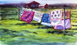 Quilts in the Wind