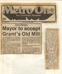Mayor Robert Steen Accepts Mill