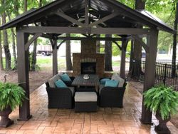 Outdoor Fireplace with Pavilion