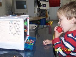 Ummm strawberries and the Lite Brite Play