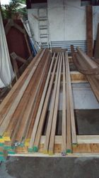 Cut and scalf the Kauri stringers.