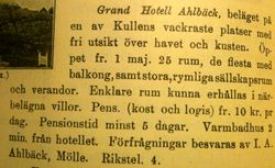 Grand Hotell Ahlbeck 1920