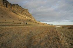 De IJslandse zuidkust, bij valavond