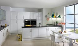 CROWN BONITO GLOSS WHITE PAINTED SHAKER KITCHEN