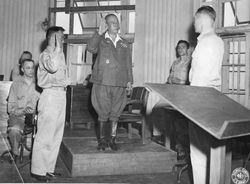 Japanese war crime trial tribunal: