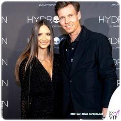 Tomas Berdych and his wife Ester Satorova