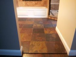 Slate & Travertine