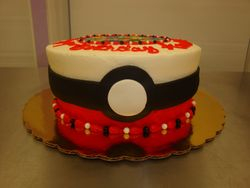 15 serving poke ball photo decal cake $75
