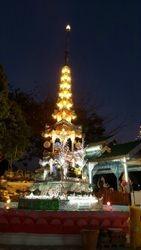 Maehongson Temple at night