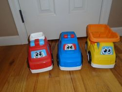 Larger Toy Plastic Trucks and Cars- 3 - $15
