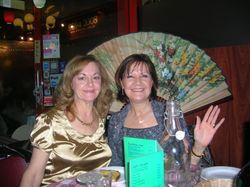 Lyn and Karen night out on the town