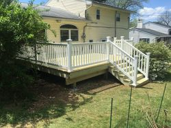 Pressure Treated Deck with Vinyl Railing