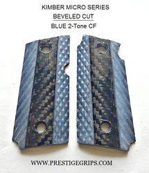 KIMBER MICRO 9 Blue CF 2-Tone Executive Series Beveled cut grips