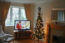 The Lounge at christmas