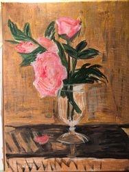 Peonies after Berthe Morisot