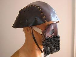 Leather Tank crew helmet